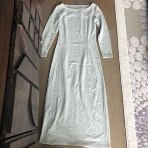 Dresses & Skirts - 3/4 sleeve wide neck heather gray comfy dress